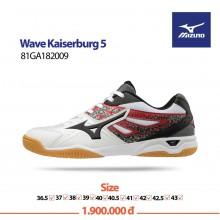 Giày Mizuno Wave Kaiserburg 5 (Trắng Đen)